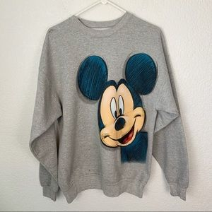 Disney Mickey Animation Crewneck Sweater Large
